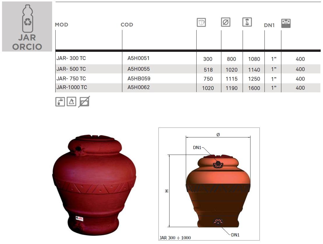 Elbi s p a termoidraulica dettagli prodotto jar for Case da 500 piedi quadrati