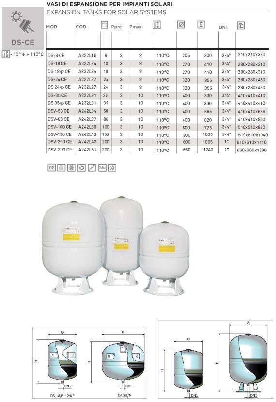 Elbi s p a termoidraulica dettagli prodotto ds for Vasi di espansione a membrana