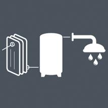 Elbi s p a termoidraulica dettagli prodotto combi for Connessioni idrauliche di acqua calda sanitaria