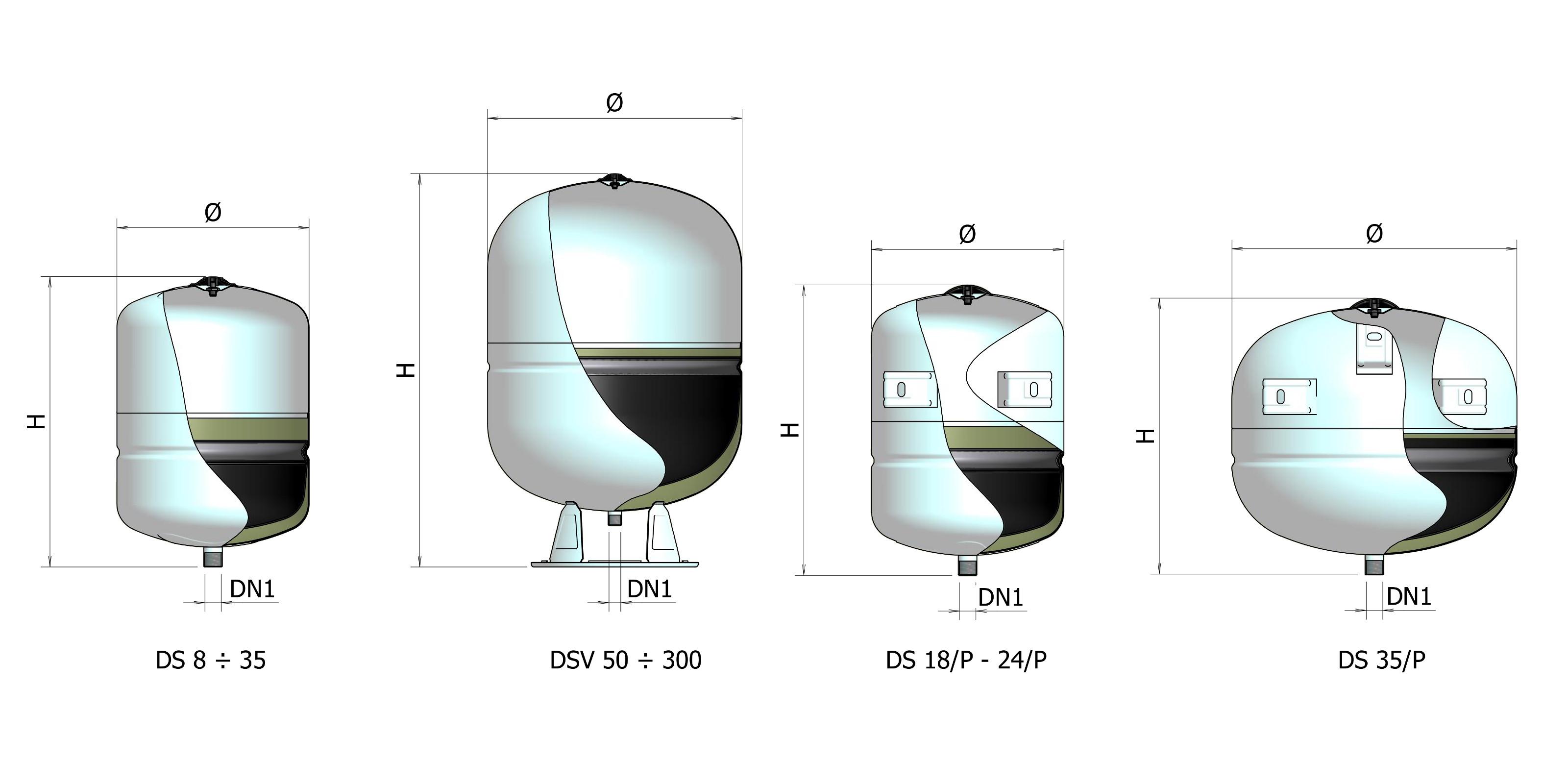 Ds elbi termoidraulica for Vasi di espansione a membrana